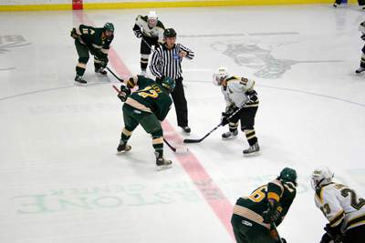 Oswego and defending national champion St. Norbert face off in a rematch of the 2007 national semifinal game (photo: Matthew Webb).